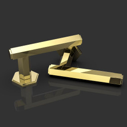 Harriette lever handle in polished brass